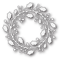 Poppy Stamps - Die - Home for the Holidays Wreath