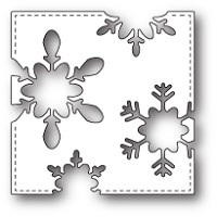 Poppy Stamps - Die - Stitched Snowflake Square
