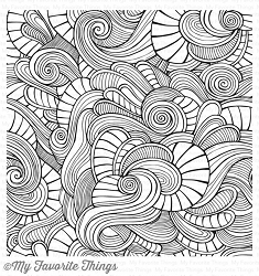 My Favorite Things - Cling Rubber Stamp - BG Wavy Coloring Book Background