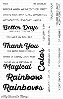 My Favorite Things - Clear Stamp - Rainbow of Happiness