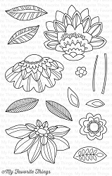 My Favorite Things - Clear Stamp - Fancy Flowers