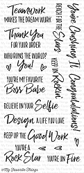 My Favorite Things - Clear Stamp - Boss Babe
