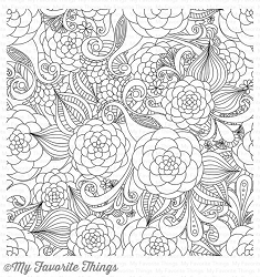My Favorite Things - Cling Rubber Stamp - BG Floral Fantasy Background