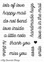 My Favorite Things - Clear Stamp - Love Is In The Mail