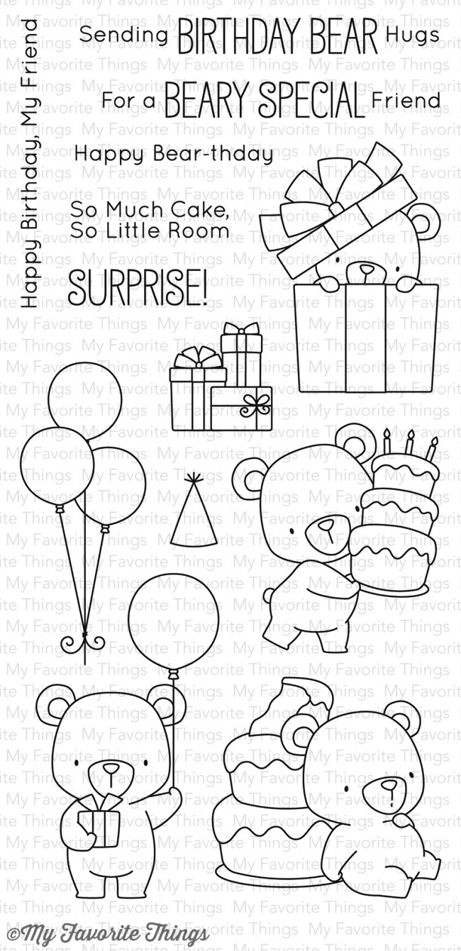 My Favorite Things Clear Stamp Bb Beary Special Birthday
