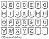 My Favorite Things - Die-namics - LLD Stitched Banner Alphabet