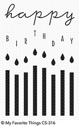 My Favorite Things - Clear Stamp - Happy Birthday Candles