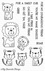 My Favorite Things - Clear Stamp - Lions and Tigers
