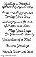 My Favorite Things - Clear Stamp - Snowfall of Blessings