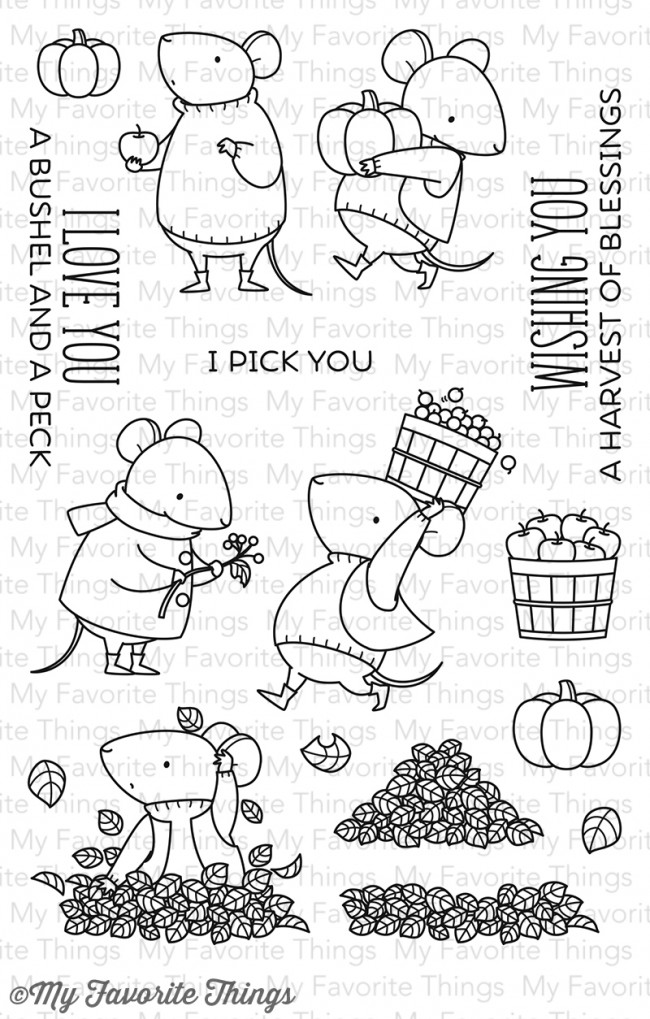 My Favorite Things Clear Stamp Harvest Mouse