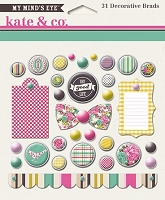 My Mind's Eye - Kate & Co. Cambridge Court Collection - Decorative Brads
