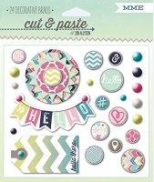 My Mind's Eye - Cut & Paste Collection by Jen Allyson - Adorbs Hello - Decorative Brads