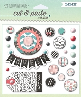 My Mind's Eye - Cut & Paste Collection by Jen Allyson - Flair Small - Decorative Brads