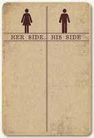 Life Stories Kraft Journal Card - Her Side His Side