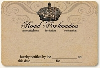 Life Stories Kraft Journal Card - Royal Proclamation