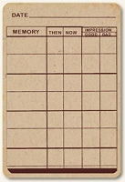 Life Stories Kraft Journal Card -  Memory Grid