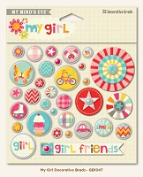 My Minds Eye - My Girl Collection - Decorative Brads