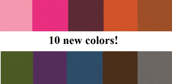 My Colors Cardstock - 10 new colors