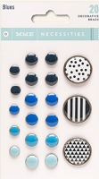 My Mind's Eye - Necessities Collection - Decorative Brads - Blues
