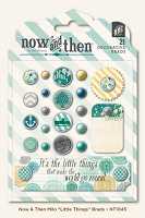 My Mind's Eye - Now and Then Collection by Jen Allyson - Milo  - Little Things - Decorative Brads