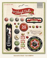 My Mind's Eye - Sleigh Bells Ring Collection - Decorative Brads