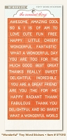 My Minds Eye - The Sweetest Thing - Tangerine - Wonderful  - Tiny Word Stickers
