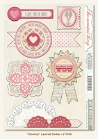 My Minds Eye - The Sweetest Thing - Lavender - Fabulous - Layered Stickers