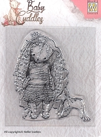 Nellie's Choice - Clear Stamp - Baby Cuddles Princess Rabbit