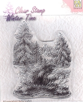 Nellie's Choice - Clear Stamp - Winter Waterfall