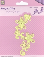 Nellie Snellen's Shape Die - Lene Design Swirls & Flowers