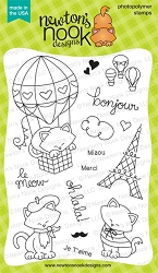 Newton's Nook - Clear Stamp - Newton Dreams of Paris