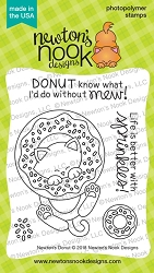 Newton's Nook - Clear Stamp - Newton's Donut
