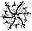 Northwoods Rubber Stamp -Snowflake 34