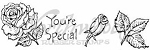 Northwoods Rubber Stamp - You're Special Rose Cube