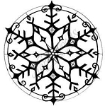 Northwoods Rubber Stamp -Large Bold Snowflake Circle