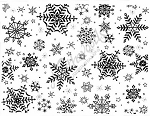 Northwoods Rubber Stamp - Small Snowflake Background Block
