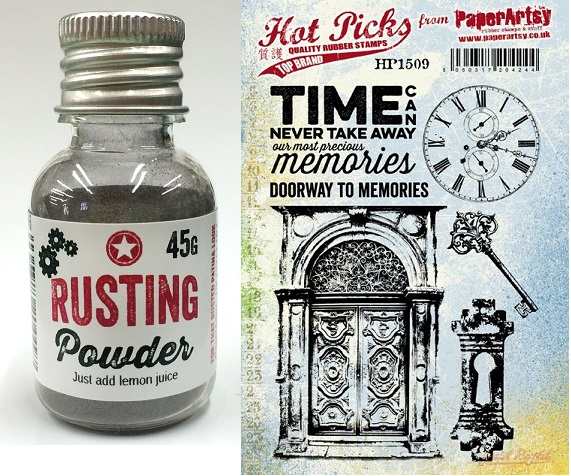 Paper Artsy - Rusting Powder, new Cling Stamps