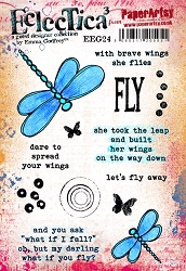 Paper Artsy - Eclectica Cling Mounted Rubber Stamps - Emma Godfrey 24