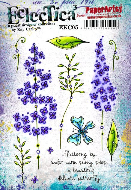Paper Artsy - new Eclectica Kay Carley stamps