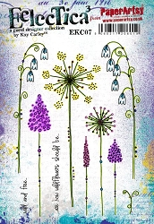 Paper Artsy - Eclectica Cling Mounted Rubber Stamps - Kay Carley 07