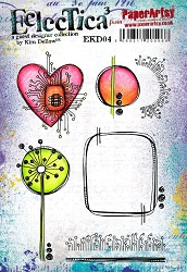 Paper Artsy - Eclectica Cling Mounted Rubber Stamps - Kim Dellow 04