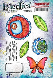 Paper Artsy - Eclectica Cling Mounted Rubber Stamps - Kim Dellow 05