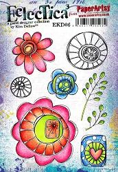 Paper Artsy - Eclectica Cling Mounted Rubber Stamps - Kim Dellow 06