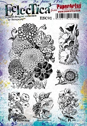 Paper Artsy - Eclectica Cling Mounted Rubber Stamps - Scrapcosy 01