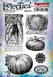 Paper Artsy - Eclectica Cling Mounted Rubber Stamps - Scrapcosy 02