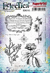 Paper Artsy - Eclectica Cling Mounted Rubber Stamps - Scrapcosy 03