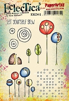 Paper Artsy - Eclectica Cling Mounted Rubber Stamps - Kim Dellow Set 01