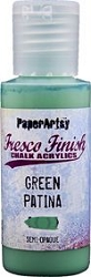 Paper Artsy - Fresco Finish Acrylic Paints - 50ml Bottle - Green Patina (semi-opaque)