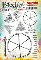 Paper Artsy - Eclectica Cling Mounted Rubber Stamps - Everything Art Set 03