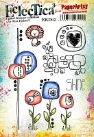 Paper Artsy - Eclectica Cling Mounted Rubber Stamps - Kim Dellow Set 03